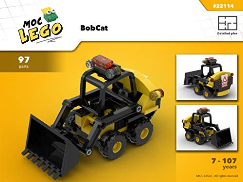 BobCat (Instruction Only): MOC LEGO (French Edition)