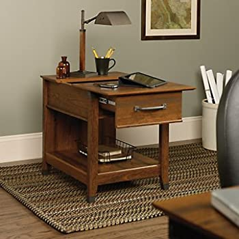 Charmant Carson Forge End Table With Charging Station
