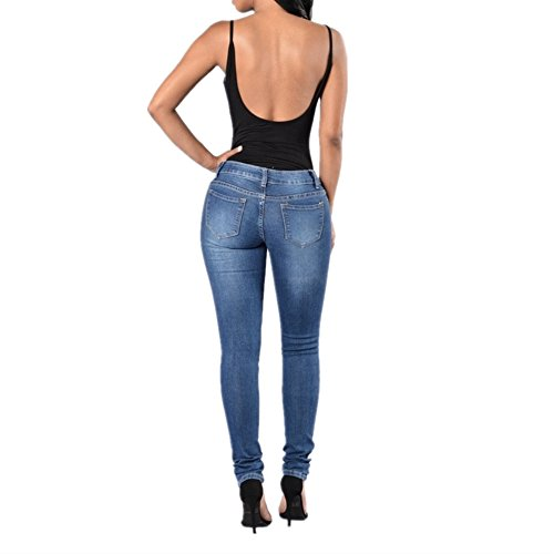 Denim Size Fashion Hole Pop M Jeans Femme Blue Color Blue Pantalon wqEIX8Sx