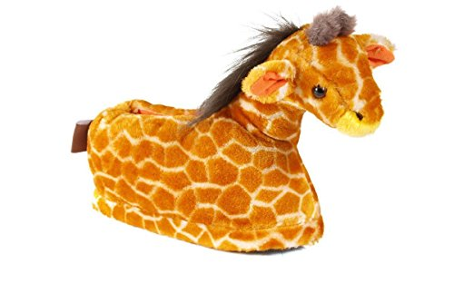 2 Giraffes (9029-2 - Giraffe - Medium - Happy Feet Animal Slippers)