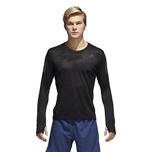 adidas Men's Running Response Long Sleeve Tee, Black, Medium