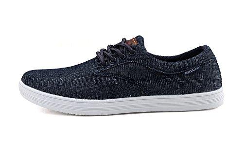 Corre Re Nuova Leggerezza Andare Facilmente A Piedi Casual Uomo Sneakers R7278 Blu Scuro
