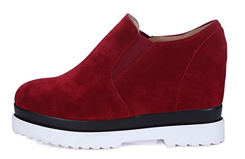 Plateforme Sneakers Basse Sport Aisun Rouge Femme Mode XTq6xnxwtF