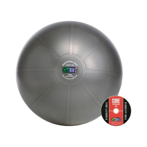 Gofit Gf-75Pro Professional Stability Ball & Core Performance Training Dvd (75 Cm; Dark Gray)