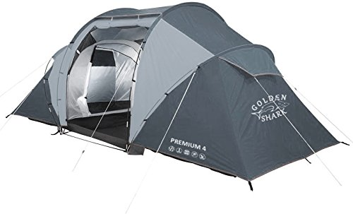 Goldenshark Premium 4 Full Size 4 Person Outdoor Tent 2 Rooms Large Vestibule Dual Layer Lightweight Waterproof Backpacking Tent For Outdoor Sports Camping Hiking Beach Activity Discounttentsnova