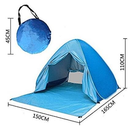 ABULU Automatic Pop Up,Outdoor Deluxe Beach Tent,Quick Portable, UV Sun Sport Shelter, Cabana Instant Easy Up Beach Umbrella Tent