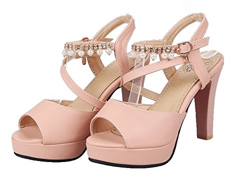 fibbia rosa Tsmlh007259 Dress Aalardom Solid alto Sandals Women Tacco con wFCHq