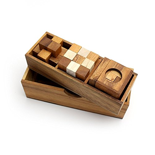 BRAIN GAMES 3 Wooden Puzzle Gift Set