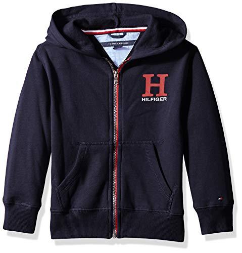 cdab82c7f Tommy Hilfiger Little Boys' Long Sleeve Matt Logo Zip up Hoodie, Matt Swim  Navy
