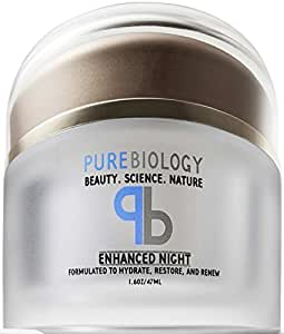 Pure Biology Anti Aging Night Cream w/ Pure Retinol, Hyaluronic Acid & Breakthrough Anti Wrinkle Technology – Moisturizer For Face & Neck (1.6 oz)