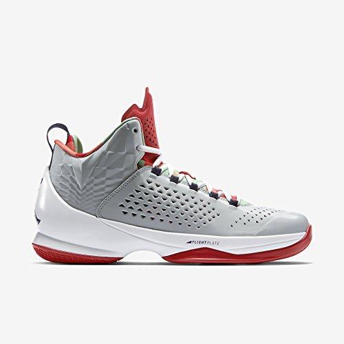 Nike Jordan Men's Jordan Melo M11 Gry Mst/Crt Prpl/Blk/Lt Psn Gr Basketball Shoe 8.5 Men US 716227-015