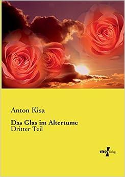 Book Das Glas im Altertume: Dritter Teil: Volume 3
