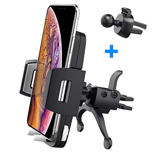 Phone Holder for Car Vent, Baseus Car Vent Cell Phone Holder Quick Release 360°Rotation Compatible with iPhone X, 8/8 Plus, 7/7 Plus, 6/6 Plus, Samsung Galaxy S9, S8, S7, S6, S5 and More
