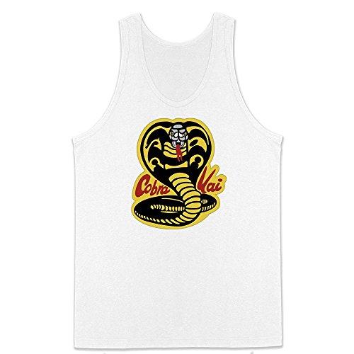 Cobra Kai Karate Dojo Halloween Costume Vintage Retro 80s Apparel Movie White XL Mens Tank Top