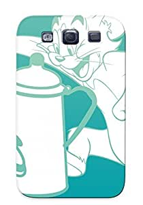 Hot PC Cover Case For Galaxy/ S3 Case Cover Skin - Tom And Jerry Picture And Black And White Cartoon