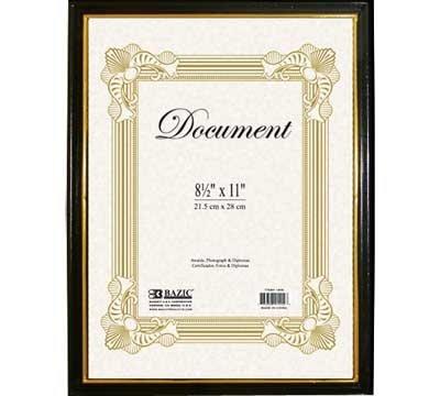 BAZIC Document Frame Gold Border