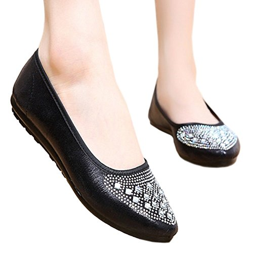 Old Low Shoes Suqare Diamond cut 40 Cloth Fake black Beijing q1ax4v