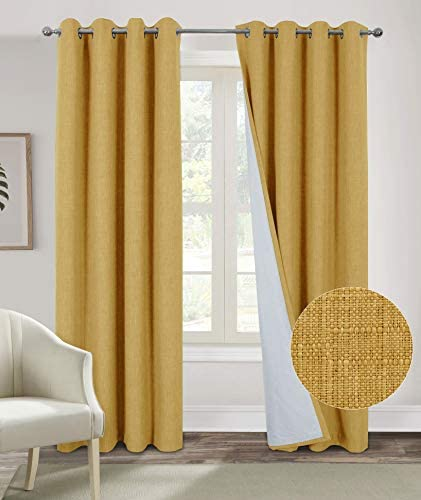 Alexandra Cole Mustard Yellow Blackout Curtain