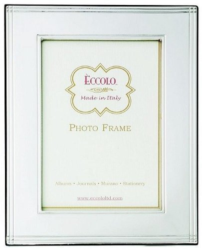 Eccolo Made In Italy Sterling Silver Frame, Chased Border, Holds a 5 x 7-Inch Photo