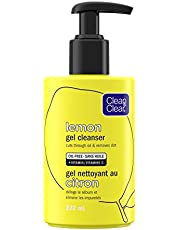 Clean & Clear Lemon Gel Face Cleanser with Vitamin C, Brightening Wash, Acne Prone Skin, 222 mL