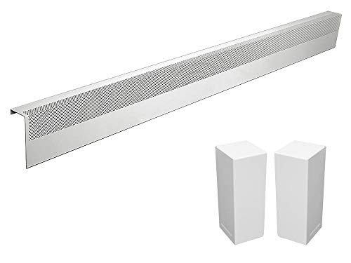 Basic Series Galvanized Steel Easy Slip-On Baseboard Heater Cover in White (6 ft, Cover + L&R End Caps)