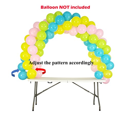 Balloon Arch Kit Adjustable for Different Table Sizes Birthday, Wedding, Christmas, and Graduation Party by Party Zealot (Image #8)
