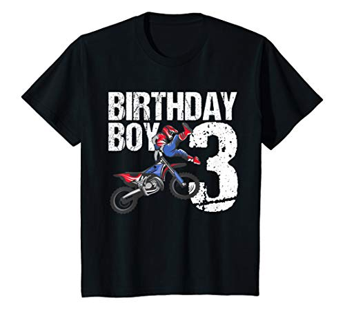 Kids 3 Year Old Dirt Bike Birthday Party Motocross MX 3rd Gift T-Shirt