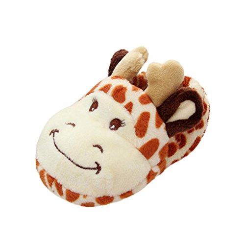 Huhu833 Baby Schuhe Kinder Baby Mädchen Jungen Soft Cartoon Design Kleinkind Erwärmung Schuhe Haushalt Schuhe (0~9Month) Orange