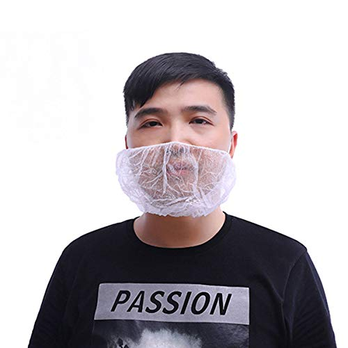 OKIl 100Pcs Disposable Beard Mask Snood Cover Catering Food Safe Beard Mask by OKIl-Tools548 (Image #6)