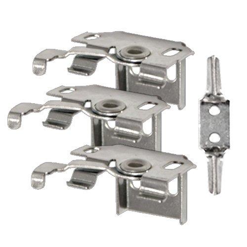 VICTORIA M Set di pezzi di ricambio per veneziane in alluminio (3 supporti universali incl. blocco di sicurezza per bambini)