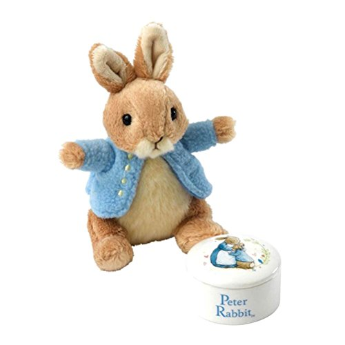 Beatrix Potter A27970 Peter Rabbit Trinket Box and Soft Toy Gift Set