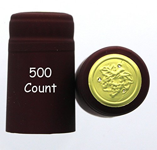 Home Brew Ohio PVC shrink Capsules-500Count, Burgundy by Home Brew Ohio (Image #1)