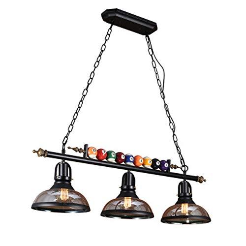 Comedor lampara de techo lampara de techo de estilo industrial moderna, las lamparas LED Negro rectangular que cuelga de billar, mesa de comedor adecuado fo hotel Bar Cafe Deco lampara, E27 * 3