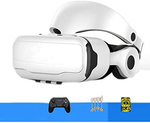 バーチャルリアリティのメガネ3D, オールインワンバーチャルインテリジェント3dメガネヘッドマウント調節可能ボタンパノラマデバイス。,White,C