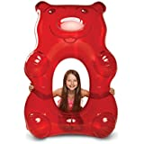 BigMouth Inc Giant Red Gummy Bear Pool Float, 5 Feet Long, Funny Inflatable Vinyl Summer Pool or Beach Toy, Patch Kit Included