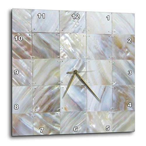 3dRose dpp_50911_1 Picturing Mother of Pearl-Wall Clock, 10 by 10-Inch (Clock Pearl)