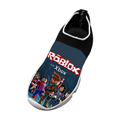 Roblox Xbox R Unisex Child Breathable Mesh EVA Leisure Fly Knit Sneaker Runner 3D Printed Elasticity Shoes