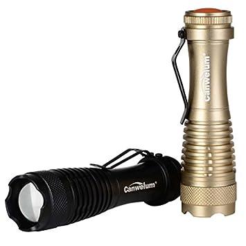 Canwelum Lampe Torche Led Cree Zoom Lumineuse Lampe De Poche Led