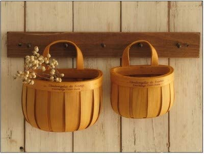 YUANSS Handmade Wood Storage Basket Grocery Pots Succulents. Hanging Basket. Storage Box. Home Decoration Accessories
