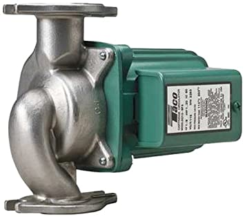 TACO 007-SF5 STAINLESS 1/25HP 115V 1SP CIRCULATING PUMP (REPLACES BRONZE 007BF5) MC62923