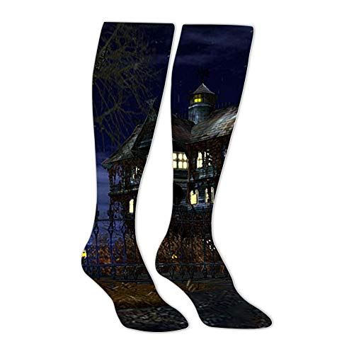 Knee High Stockings Halloween Scary Long Socks Sports Athletic for Man and Women ()
