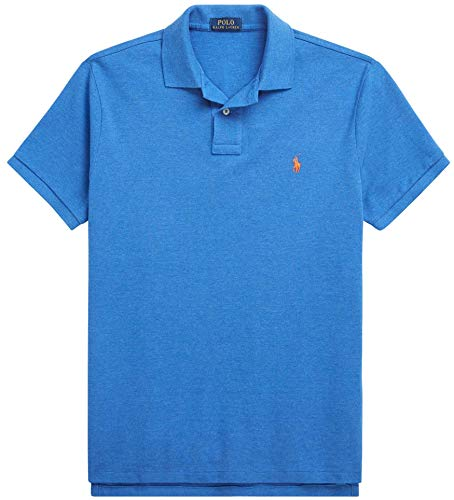 Ralph Lauren Men's Classic Fit Mesh Pony Logo Polo Shirt (M, DocksideBlueHtr) (Us Polo By Ralph Lauren)