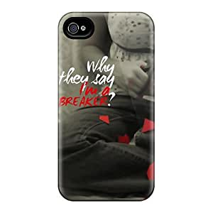 For LatonyaSBlack Iphone Protective Case, High Quality For Iphone 4/4s Heart Breaker Skin Case Cover