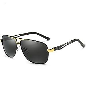 Gold Aoron-Hd-Polarized-Sunglasses-Men'S-Driving-Outdoor-Sports-Eyewear-Glasses-Uv400