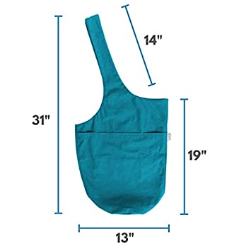 The Original YogiiiTote Fits Most Size Mats Yoga Mat Tote Sling Carrier with Large Side Pocket /& Zipper Pocket Yogiii Yoga Mat Bag