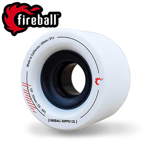 Fireball 60mm Tinder 81a Durometer Skateboard & Longboard Wheels (Wheel