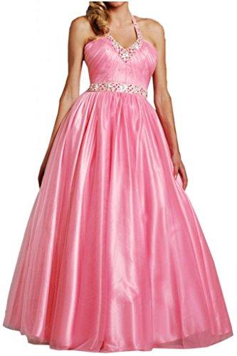 Lungo tulle partito Toscana sposa abiti da sera elegante Halter stelle Prom Satin hard ball Gowns