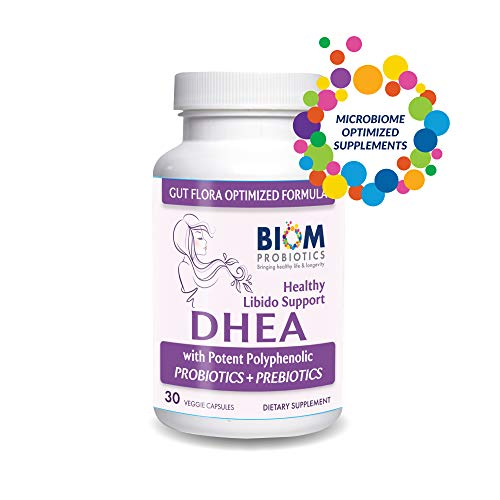 Biom High Potency DHEA (100mg)- Gut microbiome optimized formula for Boosting Lean Muscle Mass, Balancing Hormone Levels, Restoring Youthful Energy Levels, and Promoting Healthy Aging in Men and Women