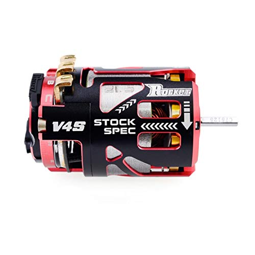 Surpass Hobby Rocket V4S 17.5 Stock Spec Brushless Racing Motor for 1/10th Scale RC Cars, Buggies, Trucks and More.