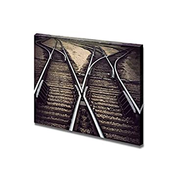 Vintage Railway Junction with Several Tracks Home Deoration Wall Decor, With Expert Quality, Alluring Craft